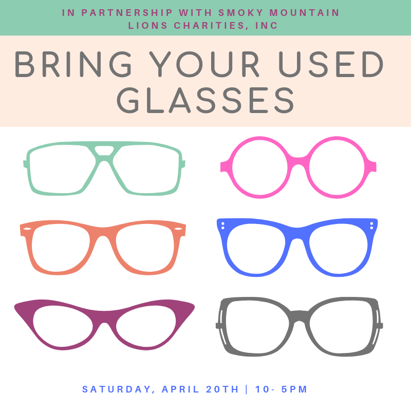 Bring Your Used Glasses