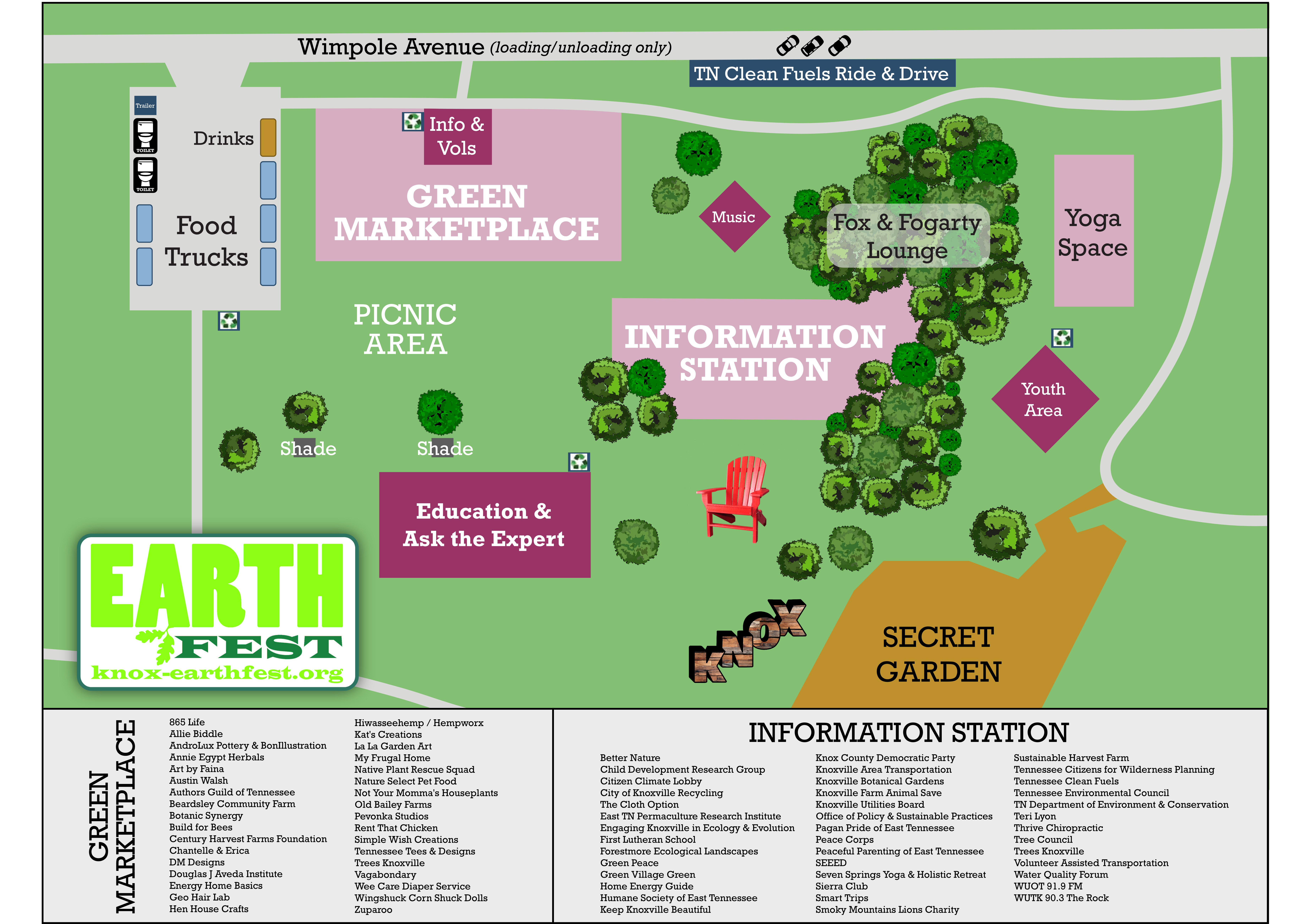 Map of Event Lawn – Knoxville EarthFest